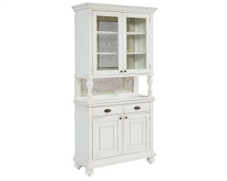 Jo's White Dish Cabinet and Hutch