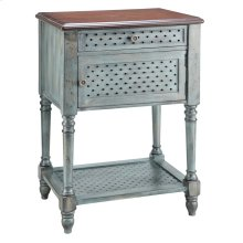 Hartford 1-door 1-drawer Accent Table In Moonstone Blue