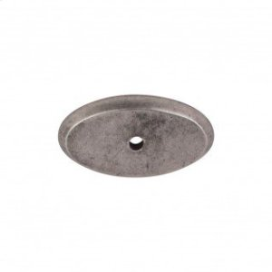 Aspen Oval Backplate 1 3/4 Inch - Silicon Bronze Light