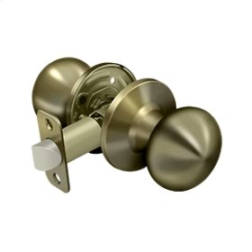Portland Knob Passage - Antique Brass