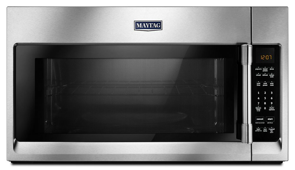 Mmv4206fzmaytag over the range microwave with interior - Stainless steel microwave interior ...