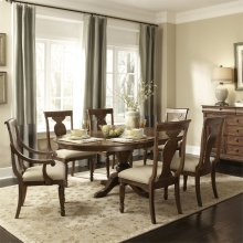 7 Piece Oval Table Set