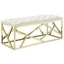 Intersperse Bench in Gold Ivory