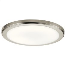 Zeo Collection Zeo 4000K LED 13 Inch round Flushmount NI
