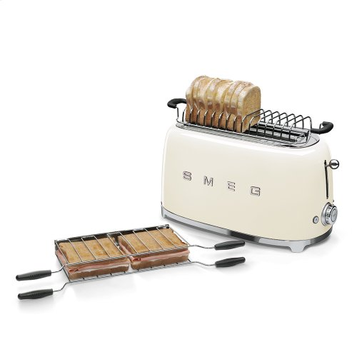 4x2 Slice Toaster, Cream