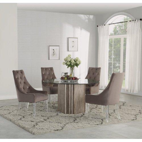 W1163840 In By Flexsteel In Urbana Il Vogue Acrylic Leg Dining Chair