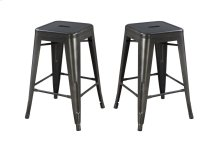 "Emerald Home Dakota II 24"" Bar Stool Gunmetal Gray D133-24"