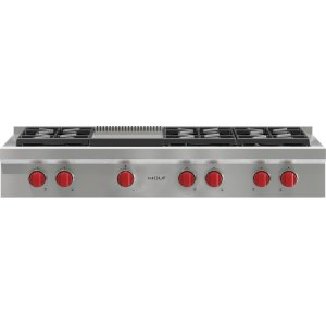 "Wolf48"" Sealed Burner Rangetop - 6 Burners and Infrared Griddle"
