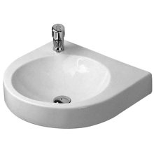 Architec Washbasin 1 Faucet Hole Pre-marked (left) 1 Pre-marked Hole For Soap Dispenser (right)