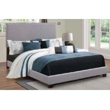 Boyd Upholstered Grey Twin Bed