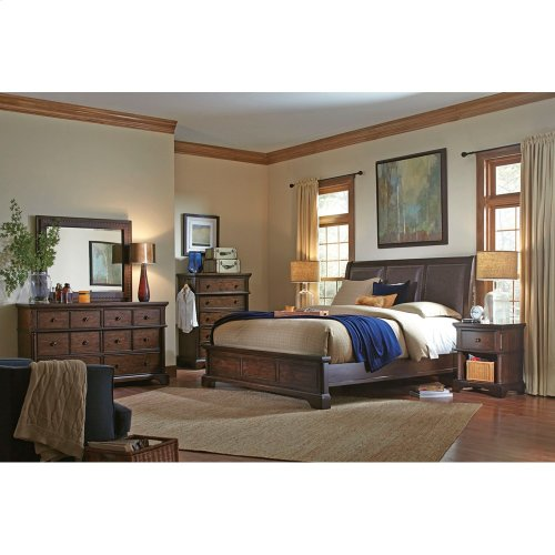 Bonded Leather King/Cal King Sleigh Headboard
