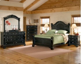 Heirloom Black 6-6 Poster Bed