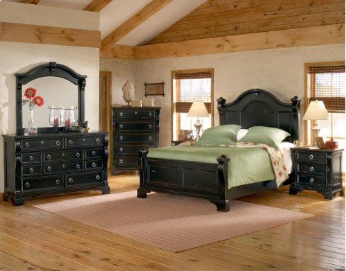 Heirloom Black 6-6 Poster Bed