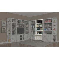 Catalina Two piece 40 in. Library Desk and Hutch Product Image