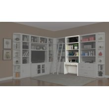 Catalina Two piece 40 in. Library Desk and Hutch