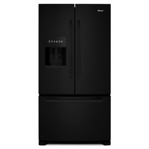 36-inch French Door Bottom-Freezer Refrigerator with Fast Cool Option - black
