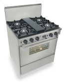 """30"""" Dual Fuel, Convect, Self Clean, Open Burners, Stainless Steel Product Image"""