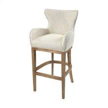 Roxie Cream Linen Bar chair