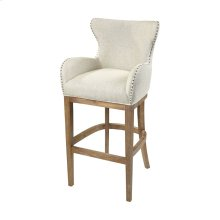Roxie Cream Linen Bar chair