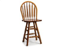 Classic Oak Slat Back Counter Stool with Swivel Product Image