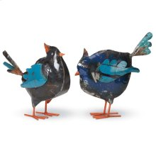 Recycled Metal Bird, Set of 2