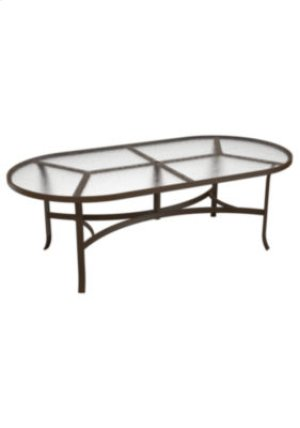 "Acrylic 84"" x 42"" Oval Dining Umbrella Table"