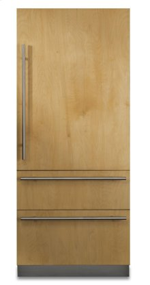 "COMING SOON: 36"" Custom Panel Fully Integrated Bottom-Freezer Refrigerator, Right Hinge/Left Handle"