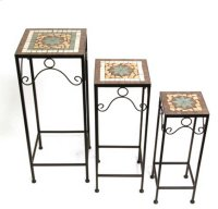 """Mosaic Table-Set of 3- 27.5""""""""/24.25""""""""/20.75 Product Image"""