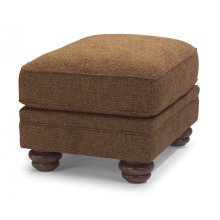 Bexley One-Tone Fabric Ottoman