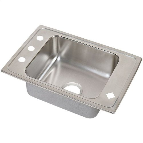 "Elkay Lustertone Classic Stainless Steel 25"" x 17"" x 5-1/2"", Single Bowl Drop-in Classroom ADA Sink Kit"