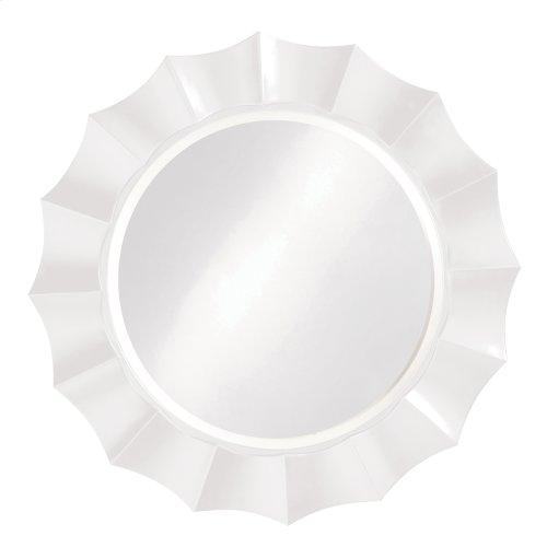 Corona Mirror - Glossy White