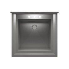 "UrbanEdge® 003865 - pedestal stainless steel Utility sink , 25"" × 24"" × 12"""