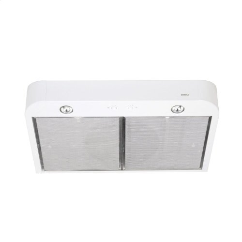 Antero 30-inch 250 CFM White Range Hood with light