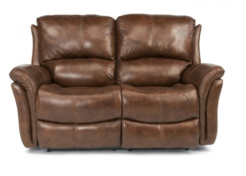 Dominique Leather Power Reclining Loveseat