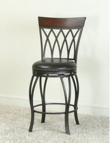 "Sunset Trading 24"" Victoria Highback Swivel Counter Stool - Sunset Trading"