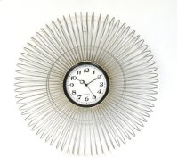 Metal Clock- Silver Wire-Slinky- 24 Product Image