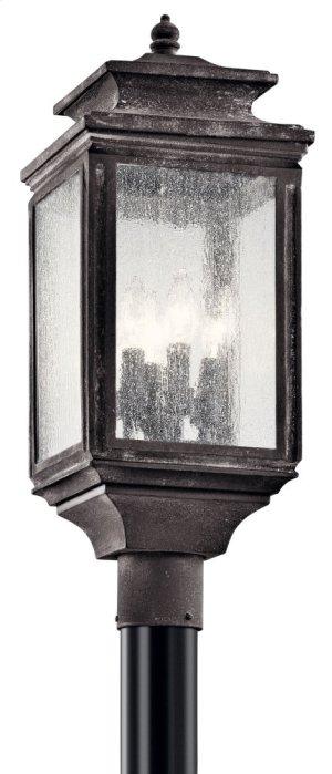 Wiscombe Park 4 Light Post Weathered Zinc