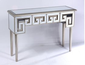 Sofa Table-antique Champagne Gold Finish