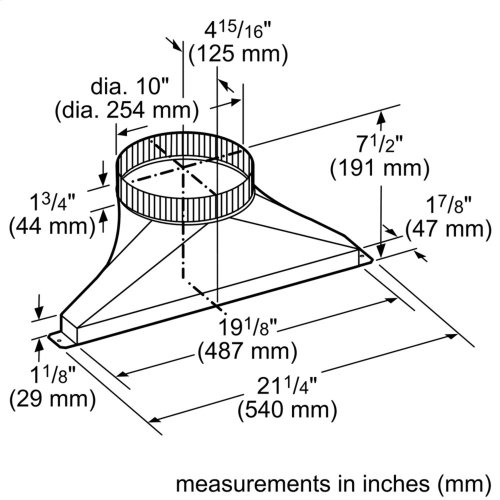 10-Inch Side/Rear Transition for Downdraft CVTSIDE10