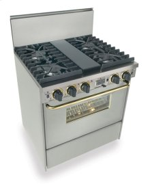 "30"" Dual Fuel, Convect, Self Clean, Sealed Burners, Stainless Steel with Br"
