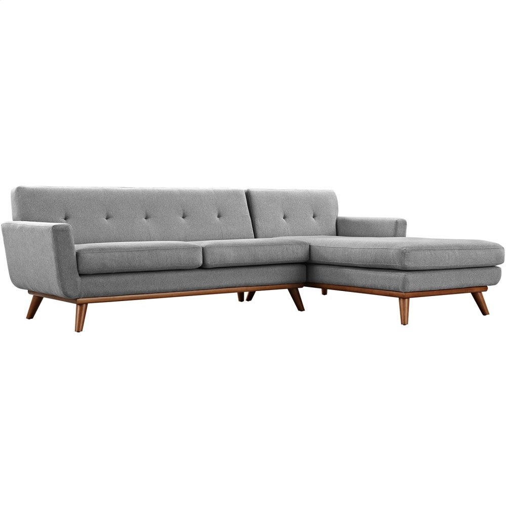 Engage Right-Facing Sectional Sofa in Expectation Gray