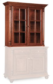 Savannah Closed Hutch Top, Medium, Antique Glass