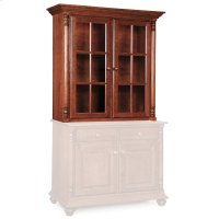 "Savannah Closed Hutch Top, 45 3/4""w, Antique Glass Product Image"
