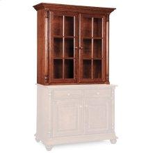 """Savannah Closed Hutch Top, 45 3/4""""w, Antique Glass"""