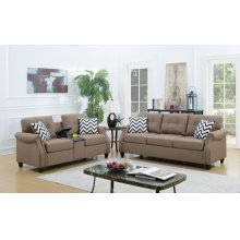 F6412 / Cat.19.p41- 2PCS SOFA SET LIGHT COFFEE