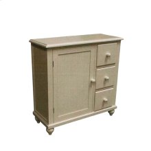 Door Chest with 3 Drawers