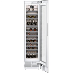 "Gaggenau400 series 400 series wine climate cabinet Fully integrated, panel ready, with glass door Niche width 18"" (45.7 cm)"