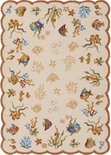 2133/1015 Coral Dive / Sand Area Rugs