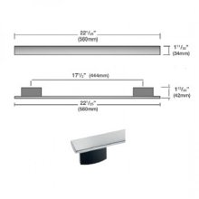 DS6808 PureLine Silhouette Handle - Clean Touch Steel with Truffle Brown Brackets