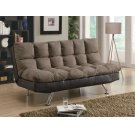 Casual Overstuffed Brown Sofa Bed Product Image
